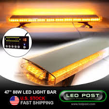 led security light bar 47 amber 88w emergency led strobe roof security light bar slim