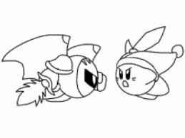 meta knight coloring pages kir coloring pages meta knight coloring