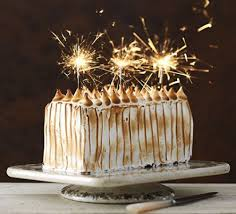 birthday cake sparklers toasted marshmallow cake recipe food