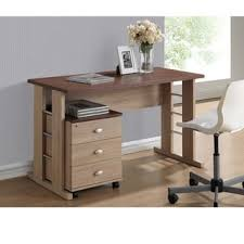 Contemporary Writing Desk Baxton Studio Mckenzie Contemporary 3 Drawer Dark Brown Wood Study