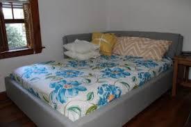 Walmart Upholstered Bed Lounge Upholstered Full Bed Stone Walmart Com