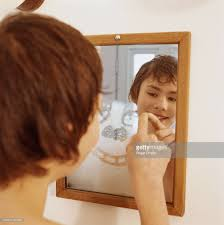 Bathroom Mirror Shots by Boy Drawing In Steam On Bathroom Mirror Stock Photo Getty Images