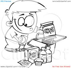 eating junk food clipart black and white clipartsgram com