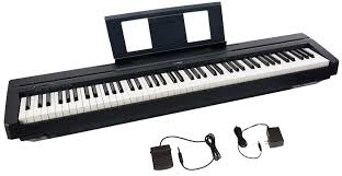 amazon com yamaha p45 88 key weighted action digital piano with