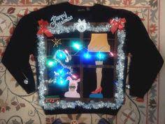 a christmas story leg l lights a christmas story themed diy light up tacky christmas sweater oh