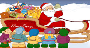 santa claus cards santa claus greetings riversongs santa