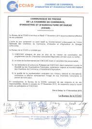 chambre de commerce 93 comportement douteux la ccia de dakar suspend ses activités dans