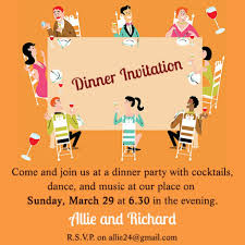 Dinner Party Invitation Card Swimming Party Invitations Templates Free Futureclim Info