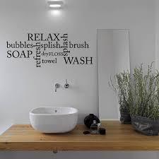 bathroom word cloud wall sticker by mirrorin notonthehighstreet com bathroom word cloud wall sticker black
