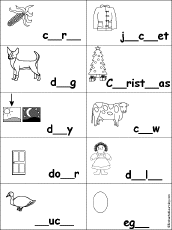 fill in the missing letters in dolch nouns at enchantedlearning com