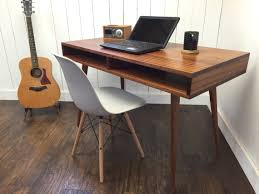Walnut Computer Desks Adorable Mid Century Modern Computer Desk On Boxer With Storage