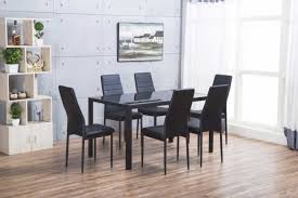 all glass dining room table extendable glass dining table long dining room table 6 chair table