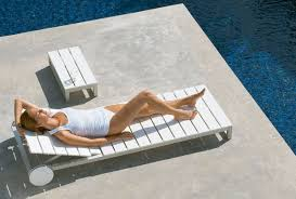 Outdoor Sun Lounge Chairs Modern Interior Design Gandia Blasco Tumbona Modern Saler Chaise