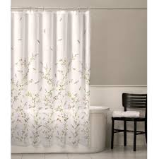 Washable Curtains Floral Dragonfly Polyester Machine Washable Shower Curtain