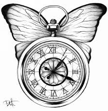 drawn compass pocket watch drawing pencil and in color drawn