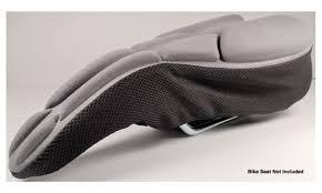 Comfort Bike Seat Komfy High Performance Bike Seat Cover Narrow U2013 Gray Groupon