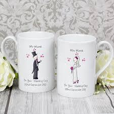 wedding gift mugs personalised wedding mug set groom wedding gifts