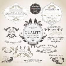 Luxurious Decorative Element Vector Set Calligraphic Design Elements And Page Decoration Pr