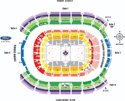seating map the air canada centre