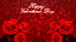 happy valentine u0027s day glitter background with 3d roses motion