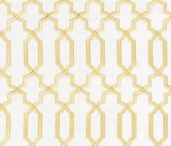 Gold And White Curtains Contemporary Gold Fabric Geometric Gold White Embroidered