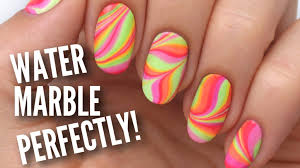 water marble your nails perfectly youtube