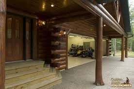 Log Cabin Floor Plans With Garage by Golden Eagle Log Homes Log Home Cabin Pictures Photos
