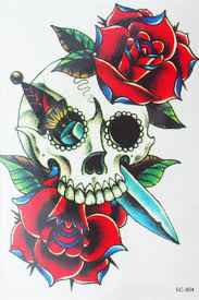 skulls roses tattoos online skulls roses tattoos for sale