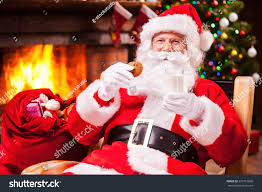 my favorite meal cheerful santa claus stock photo 229716868