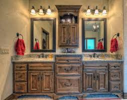Rustic Master Bathroom Ideas - rustic cottage love the cabinet layout and design featuring