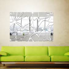 online get cheap wall stickers rectangles aliexpress com removable crystal acrylic rectangle mirror wall sticker living room bathroom tv background wall decals home diy