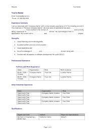 software developer resume doc cover letter experienced resume format experienced resume format