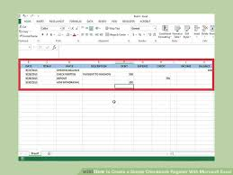 Check Register Template Excel How To Create A Simple Checkbook Register With Microsoft Excel