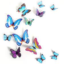 3d butterfly sticker creative butterflie design decal wall