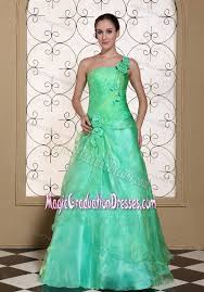 8th grade graduation dresses stores shoulder a line green graduation dress for 8th grade with flower in avon