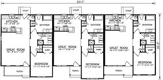 Multi Family Apartment Floor Plans Multi Family House Plans U0026 Multi Plex Home Floor Plans At
