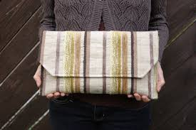 Eco Friendly Upholstery Deja Renew Repurposed Textiles Eco Friendly Large Clutch Purse