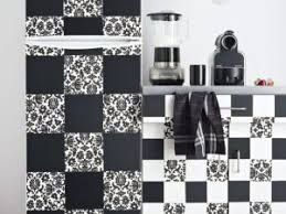 stickers carreaux cuisine une cuisine comme un damier noir et blanc par mcidees com