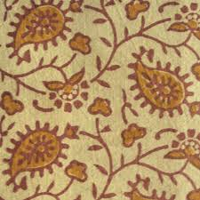 Block Print Wallpaper Indian Block Print Floral Cotton Fabric On Light Yellow Flickr