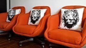 Retro Swivel Armchair Orange Swivel Chairs Foter