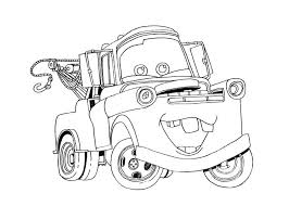 drawing cartoon mator mater coloring pages lightning