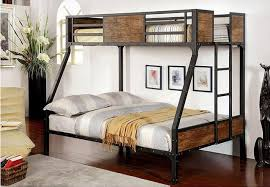 Wood And Metal Bunk Beds Minneapolis Bedroom Contemporary With Metal Bunk