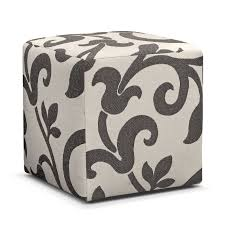 Cube Ottoman Colette Cube Ottoman Gray Value City Furniture And Mattresses