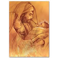 traditional holy family miracle of card
