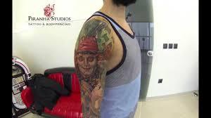 piranha tattoo studios full sleeve tim burton youtube