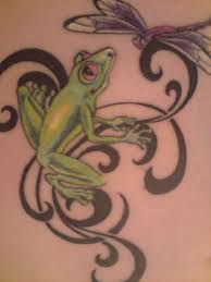 image detail for frog and dragonfly