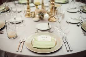 silver wedding plates reception décor photos soft green dinner napkin on silver