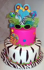 zebra themed pool party cake gallery birthday cakes