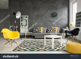 grey black and yellow living room 78 for home to design ideas