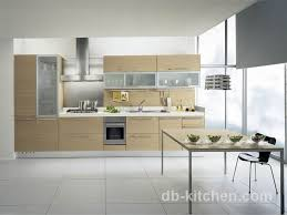 high quality uv wood grain veneer kitchen cabinet high class design